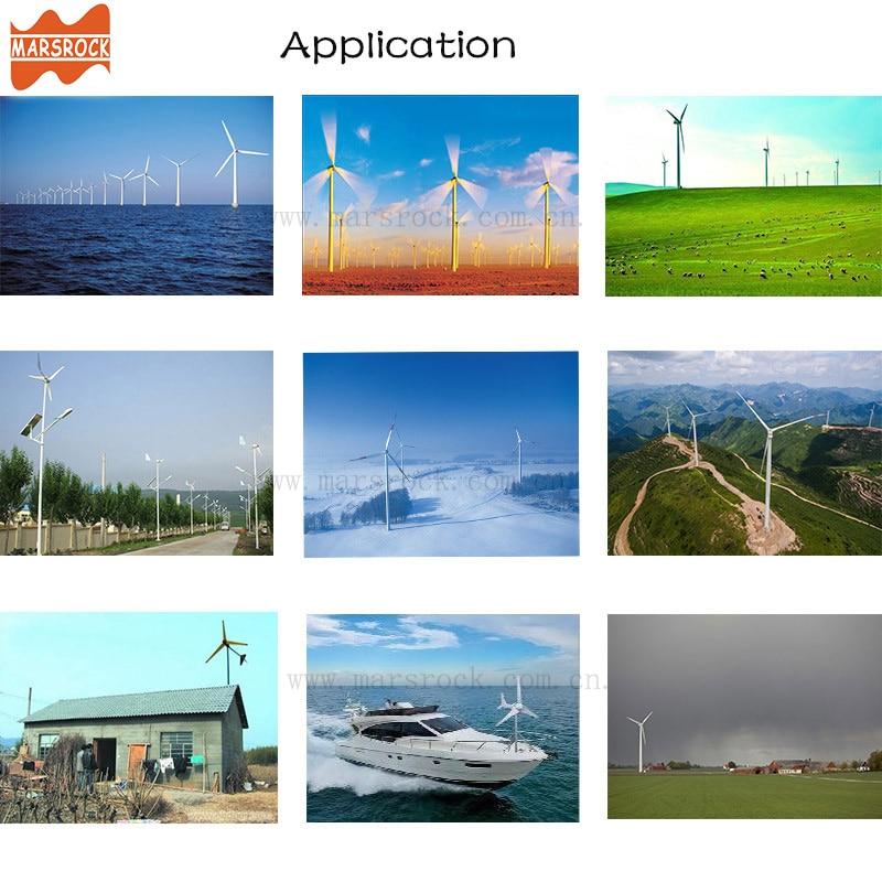 Livraison gratuite de russie espagne royaume-uni, 400W 12V ou 24Vdc éolienne générateur petit moulin à vent 0-600W contrôleur de charge comme cadeau - 6