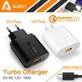 Aukey [ Qualcomm certificado ] carga rápida 2.0 18 W Turbo Turbo USB cargador de pared con pies Micro USB Cable para Android Smartphones