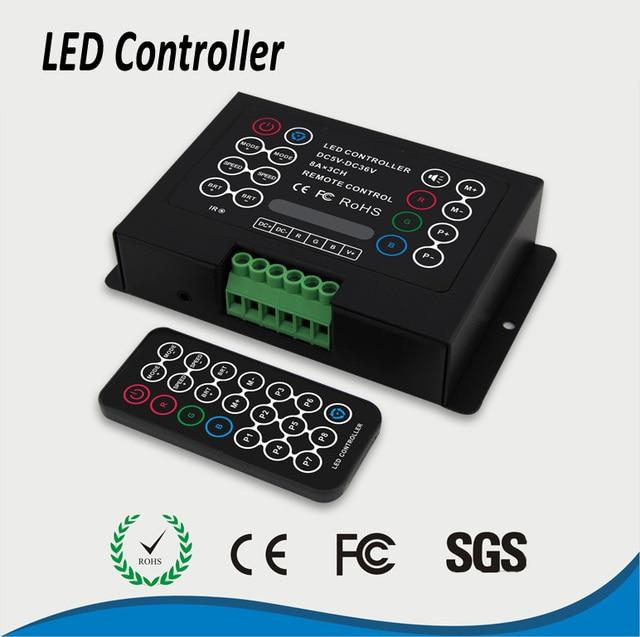 Dc 5 36v 24a ir remote diy rgb led strip light controller for rgb dc 5 36v 24a ir remote diy rgb led strip light controller for rgb 5050 aloadofball Gallery