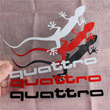 ФОТО 3 color one sheet car body windows sticker decal styling for audi quattro a1 a3 a4 a5 a6 a7 a8 q3 q5 q7 s3 s4 s5 s6 s7 s8 tt rs