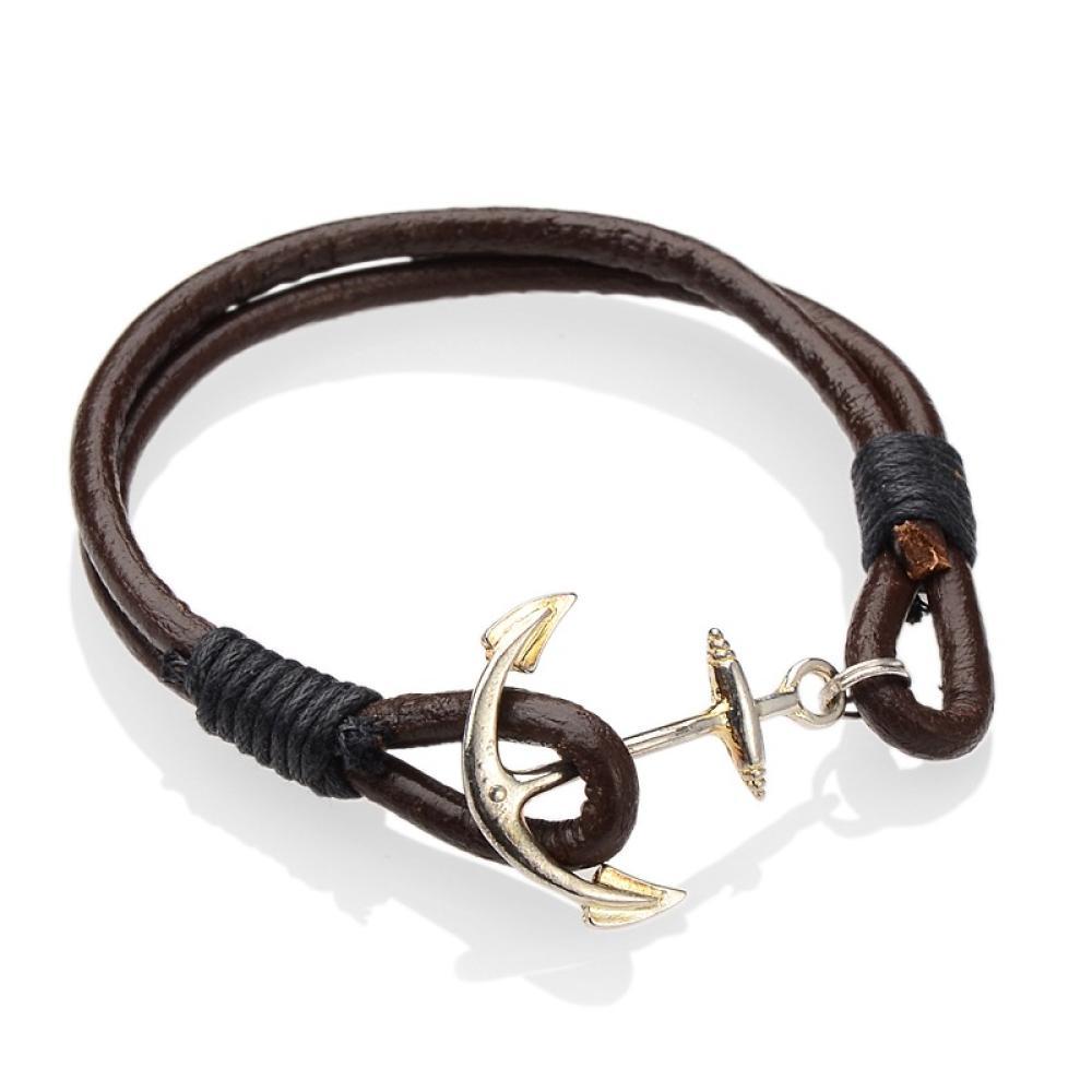 Pandahall 12pcs New 2017 Fashion Diy Anchor Bracelets Hot Sale Jewelry  Leather Cord Women And Men