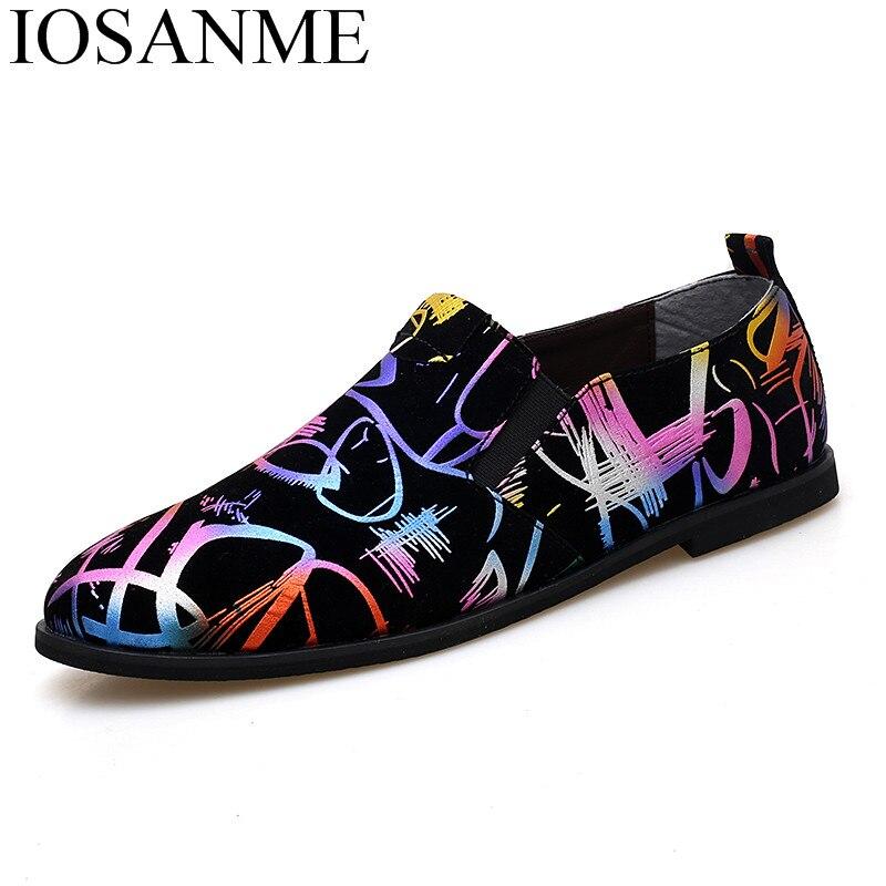 Mode Mischfarben Leder Männer Schuhe Luxus Marke Einzigartige Abend Männlichen Schuhe Gemalt Designer Kleid Mann Oxford Schuhe Für Männer BerüHmt FüR AusgewäHlte Materialien, Neuartige Designs, Herrliche Farben Und Exquisite Verarbeitung