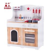 Малышей Woode Кухня набор игрушки детям ролевая игра Пособия по кулинарии игрушечная плита с аксессуарами PHOOHI