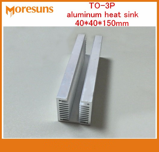 Fast Free ship 2pcs/lot High quality strip groove TO-3P aluminum heat sink 40*40*150mm U type dense tooth aluminum radiator fqa11n90 to 3p