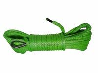 Green 6mm 15m Synthetic Rope ATV Winch Line Kevlar Winch Rope 6mm ATV Winch Accessaries Plasma