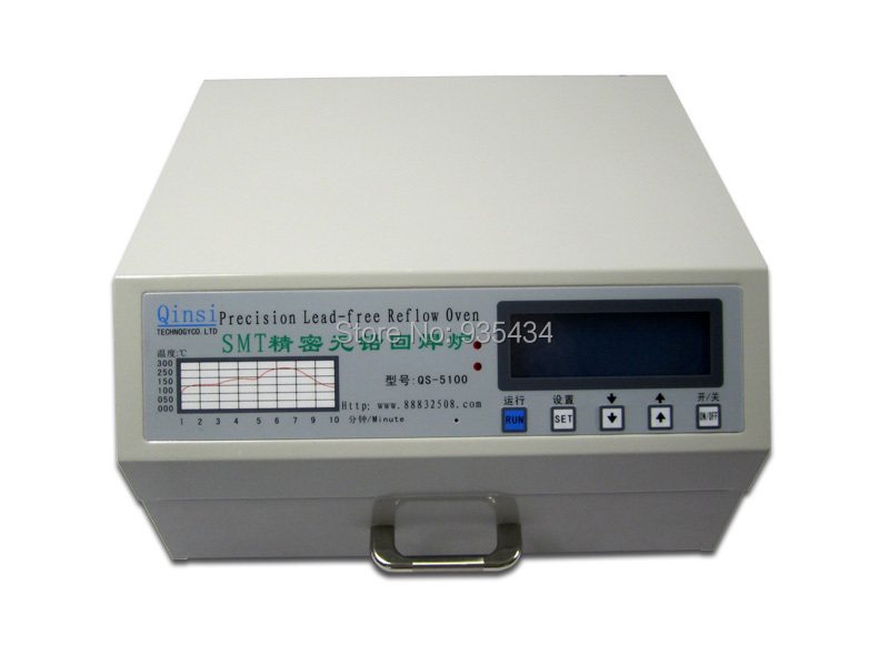 QS-5100 600W Desktop Automatic Lead Free Reflow Oven for SMD Rework