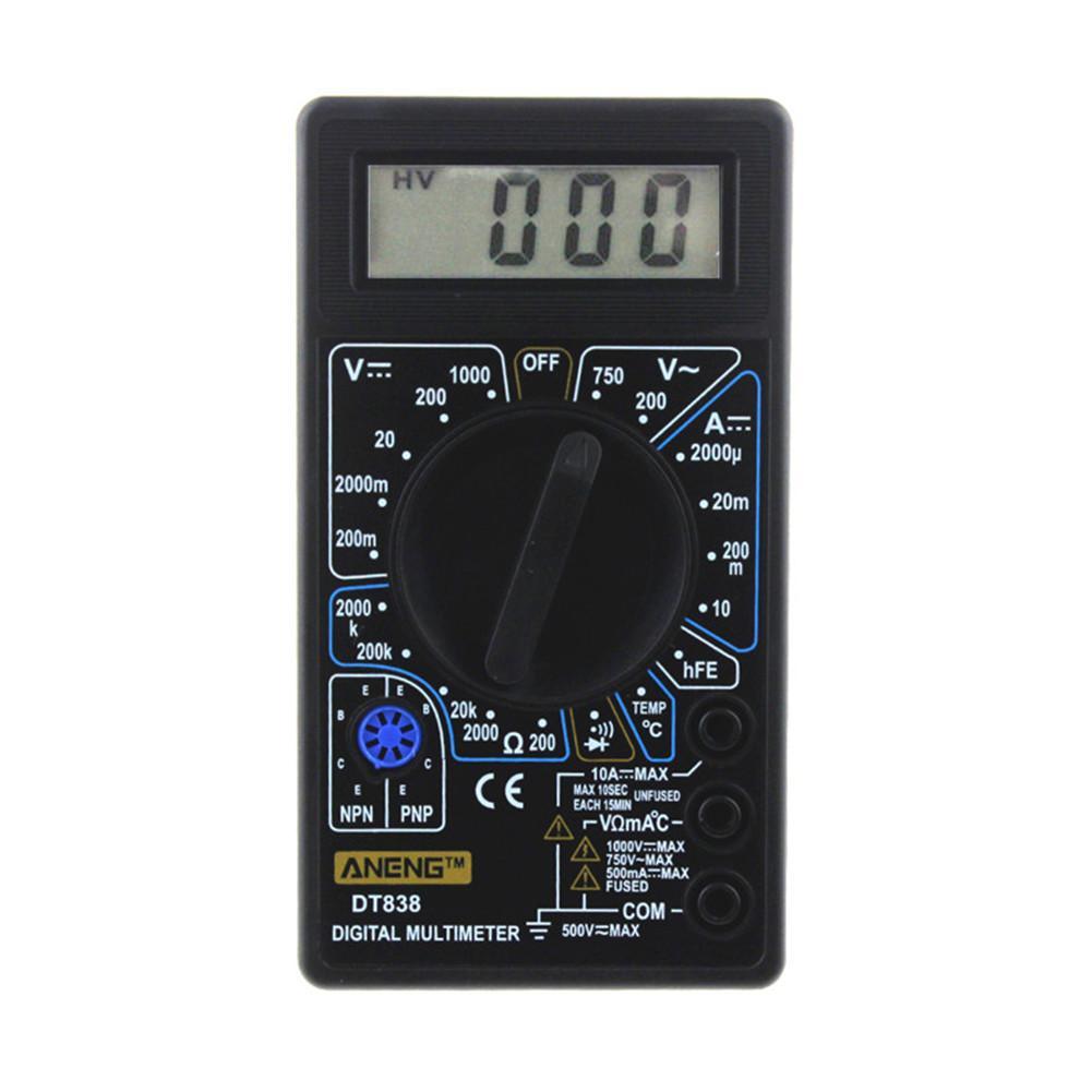 WHDZ DT838 LCD Multimètre Numérique AC DC Testeur Voltmètre Multi Testeur Outil Pour Résistance Courant de Diode De Test Électrique 1 pc j3