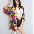 Pregnant Beach Cover Up Print Vintage Bohemian Chiffon Swimwear Bikini Cover-ups Summer Style Women Tunic Shawl 50LM