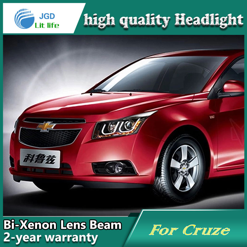 Car Styling Head Lamp case for Chevrolet Cruze 2009-2013 Headlights LED Headlight DRL Lens Double Beam Bi-Xenon HID Accessories купить в Москве 2019