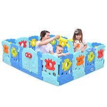 Dziecko kojec corral para bebe zabawki dla dzieci jeden przycisk składane dziecko ogrodzenia cercado para bebe piscine a balle piłka dla dzieci basen tanie tanio 6 miesięcy Ecoz Z tworzywa sztucznego Stałe actual
