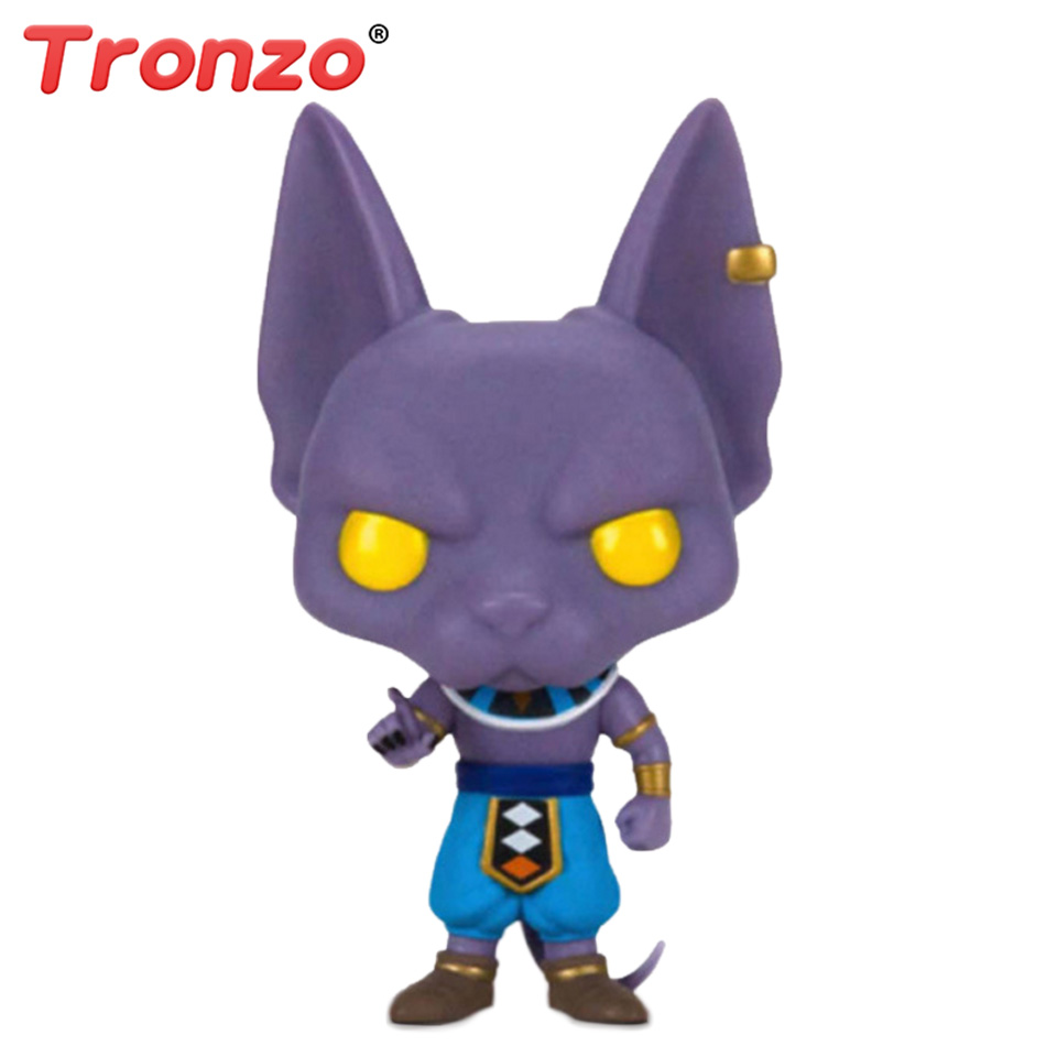 Tronzo POP Dragon Ball Z Beerus With Original Box Model Toy PVC Action Figure Super Saiyan Vinyl Figure Doll Collection Toy Gift free shiping by spsr 1 set of chinese edition original octonauts oktopod splelset figure toy with original box child toys