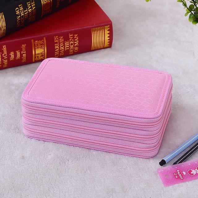 Porte-crayon trousse scolaire stylo etui boîte cartucheras para lapices escolares 52/72 trous kalem kutu sacs école kalem kutu
