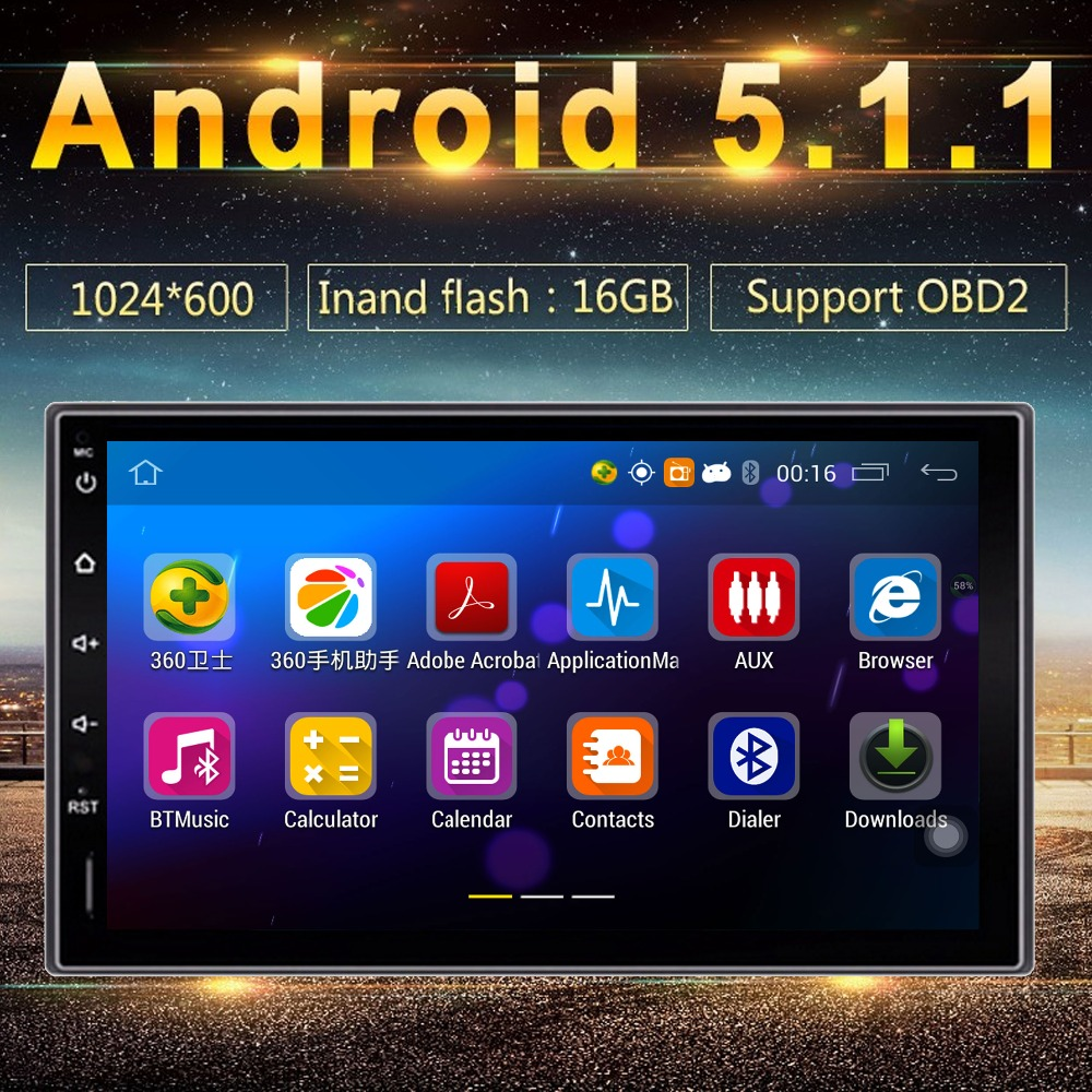 Universal Quad core Android 1024*600 car GPSs