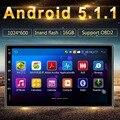 """Universal Quad core Android 1024*600 del GPS del coche 2DIN radio de 7 pulgadas 1.6 GHZ CPU 1 GB RAM 16 GB """"capacitiva"""" Pantalla táctil"""