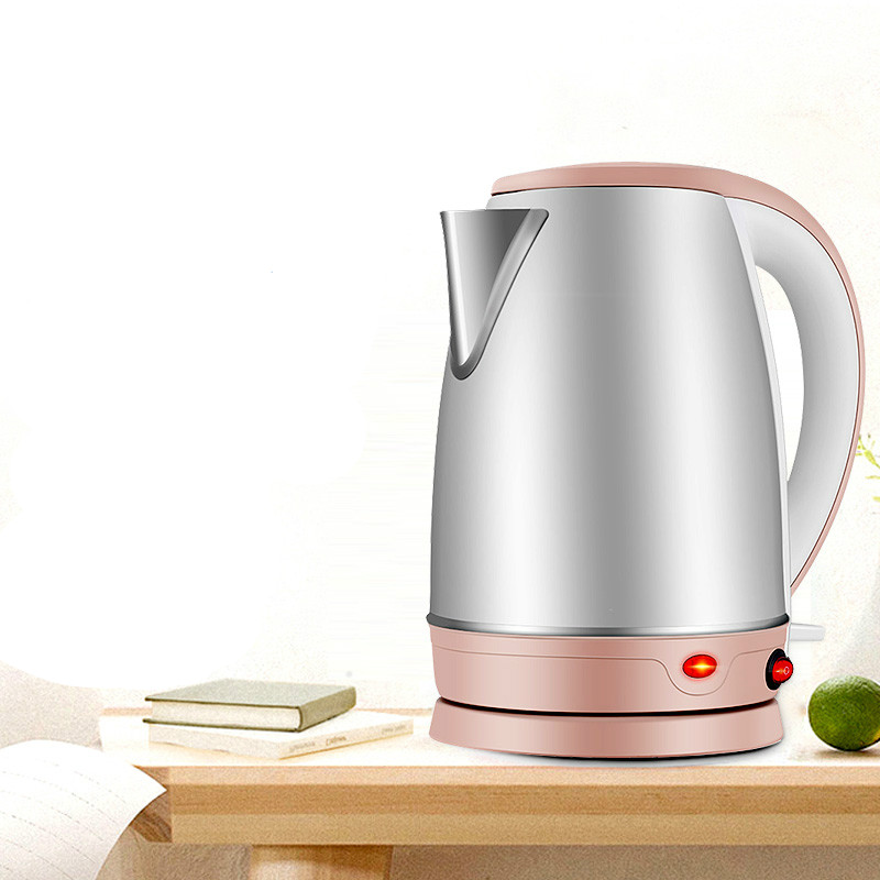 electric kettle used automatic power loss 304 stainless steel Overheat Protection free shipping electric kettle automatic power double layer heat insulation 304 stainless steel overheat protection