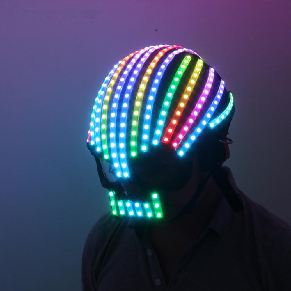 Ev ve Bahçe'ten Kızdırma Parti Malzemeleri'de Senfoni LED tam renkli LED kask lambası Yayan Giyim Kostümleri Kablosuz uzaktan kumandalı robot lazer dans performansları'da  Grup 1