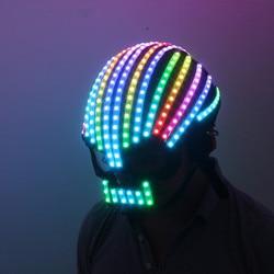 Symphony LED full color LED Helmet Light Emitting Clothing Costumes Wireless Remote Control Robot laser dance performances