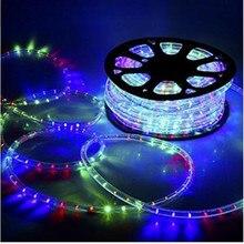 AC220V RGB Led-streifen IP67 Wasserdicht 5050SMD 1 Mt/15 Mt Flexible Seil Mit EU Netzstecker Indoor/Outdoor/Garten Dekoration Beleuchtung