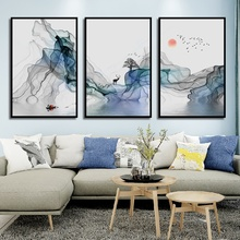 New Chinese Style Abstract Art Poster Ink Bird Landscape Canvas Painting Home Decoration Living Room Wall Pictures No Frame folk custom ancient modern minimalist new chinese ink flower landscape abstract canvas painting for living room wall art poster