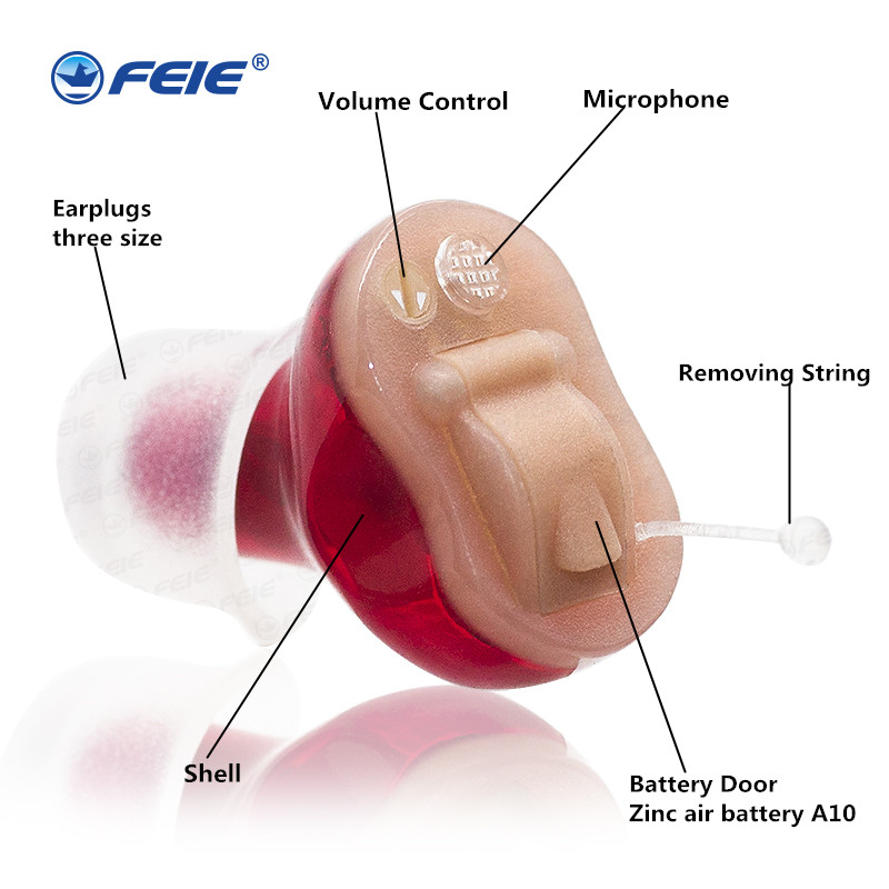 Mini Programmable CIC Hearing Aid S-16A No Noise Clear Sound Digital Ear Sound Amplifier Severe Hearing loss new invention yeindboo wireless bluetooth earphone sports sweat proof stereo earbuds headset in ear earphones with mic for iphone