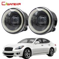 Cawanerl For Infiniti M M25 M37 M56 Car H11 4000LM LED Bulb Fog Light Angel Eye Daytime Running Light DRL 12V 2011 2012 2013