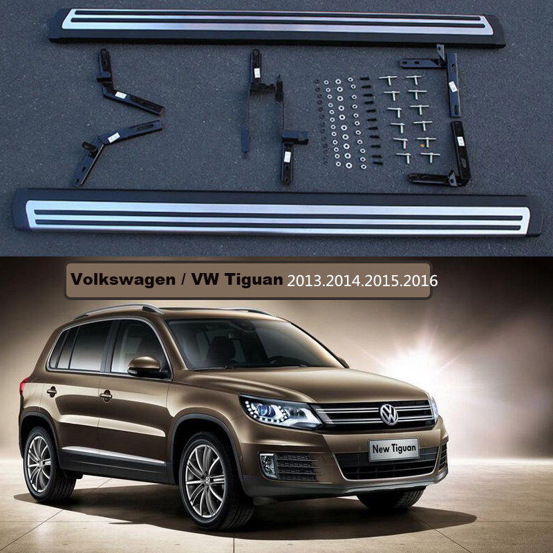 For Volkswagen VW Tiguan 2013.2014.2015.2016 Car Running Boards Auto Side Step Bar Pedals Brand New Original Design Nerf Bars