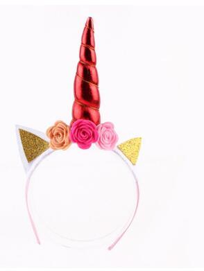 10pcs/lot creative style children Unicorn Horn Kids Girls Headband Unicorn Girls Headwear Hairband