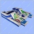 Коммерческое Качество Тропических Плавучий Остров Надувной Бассейн Плавать Summer Fun с Бесплатный большой Воздуходувки