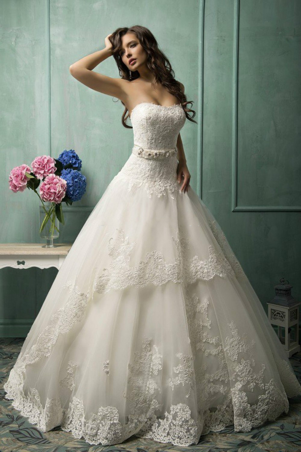 Alluring Princess Amelia Vestido De Novia Lace 2018 Lace up Robe De Mariage Bridal party prom Gown mother of the bride dresses in Mother of the Bride Dresses from Weddings Events