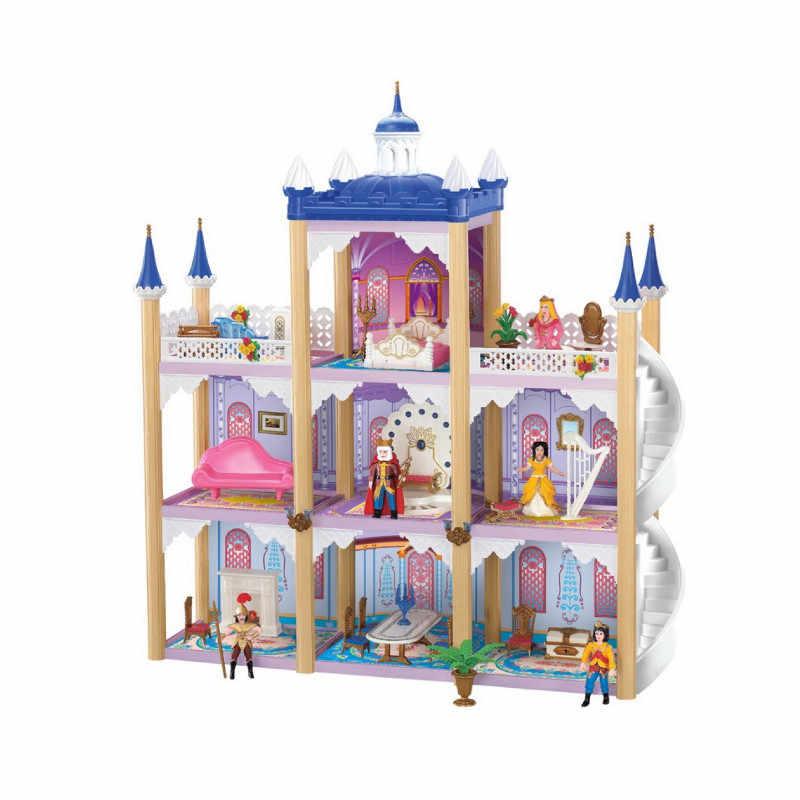 Doll Accessories Big Dollhouse Castle DIY Casa Bambole Luxury Villa Doll House Large Palace Casa De Boneca Christmas Toy Gifts