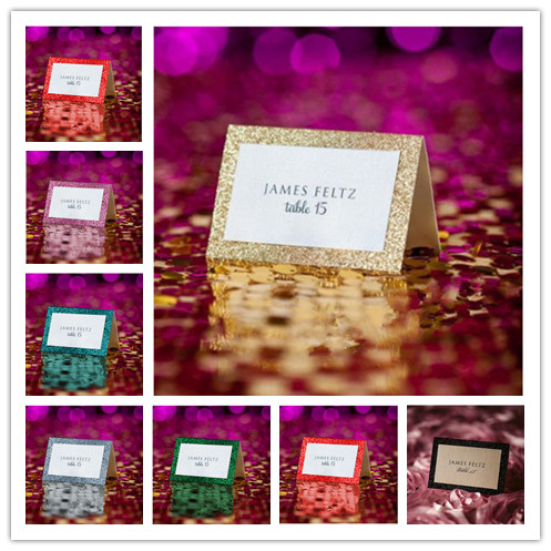 glitter style wedding collection table tent place cards for wedding