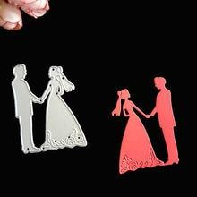 Свадебные металлические режущие штампы для жениха трафареты