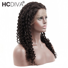 Kinky Curly Lace Frontal Wigs 22x4x2 Non-Remy Mongolian Human Hair Lace Frontal Wigs Pre Plucked Natural Hairline HCDIVA Hair