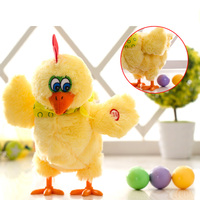 30cm Funny Dolls Raw Chicken Hens Will Lay Eggs Of Chickens Crazy Singing Dancing Electric Pet