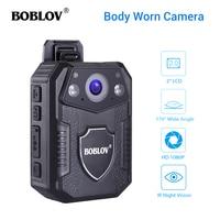 Boblov WZ2 Body Worn Camera 4K HD 1080P 32GB DVR Video Security Cam 170 Degree IR Night Vision Mini Camcorders
