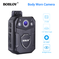 Boblov WZ2 Body Worn Camera 4K HD 1080P 32GB DVR Video Security Cam 170 Degree IR Night Vision Mini Camcorders