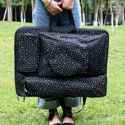 แฟชั่นสีดำขนาดใหญ่ Art กระเป๋าเดินทาง Sketch กระเป๋าอุปกรณ์ศิลปะจิตรกรรมสำหรับวาด-ใน ชุดศิลปะ จาก อุปกรณ์ออฟฟิศและการเรียน บน   1