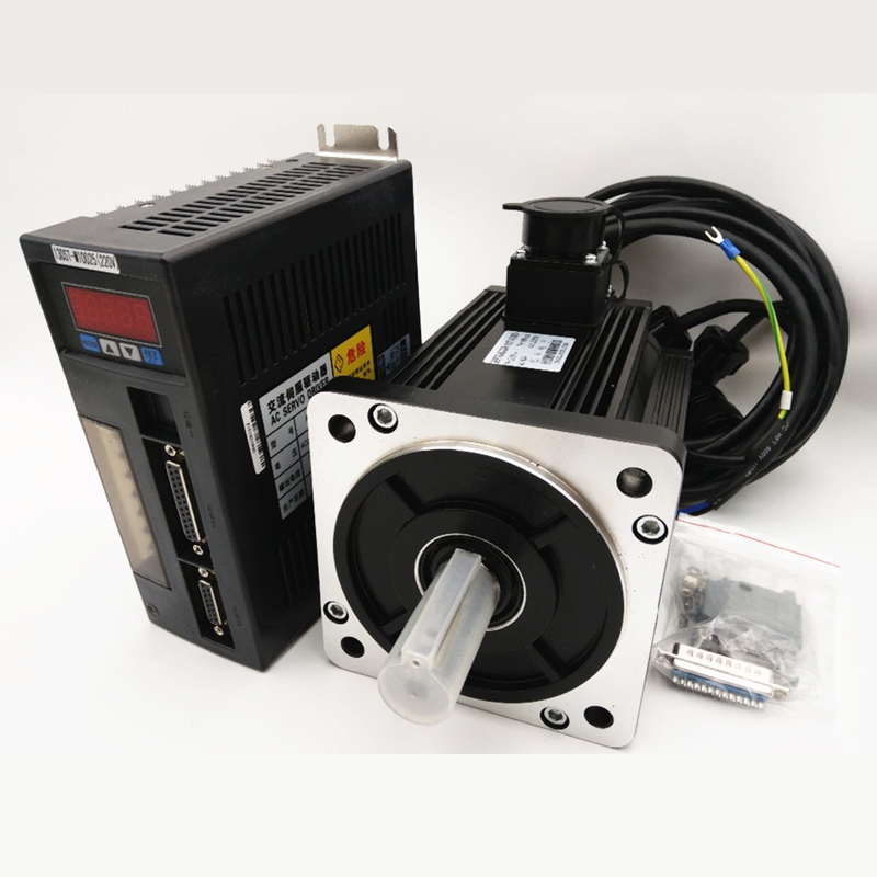 2.6kw 10Nm Servo Motor+Drive 220v 2500rpm NEMA52 Servo Kit 130mm 130ST-M10025 for Food Processing Machine + Free Encoder Cable free shipping 2 6kw ac servo drive and motor cnc servo kit 130st m10025 10n m 2500rpm servo motor driver