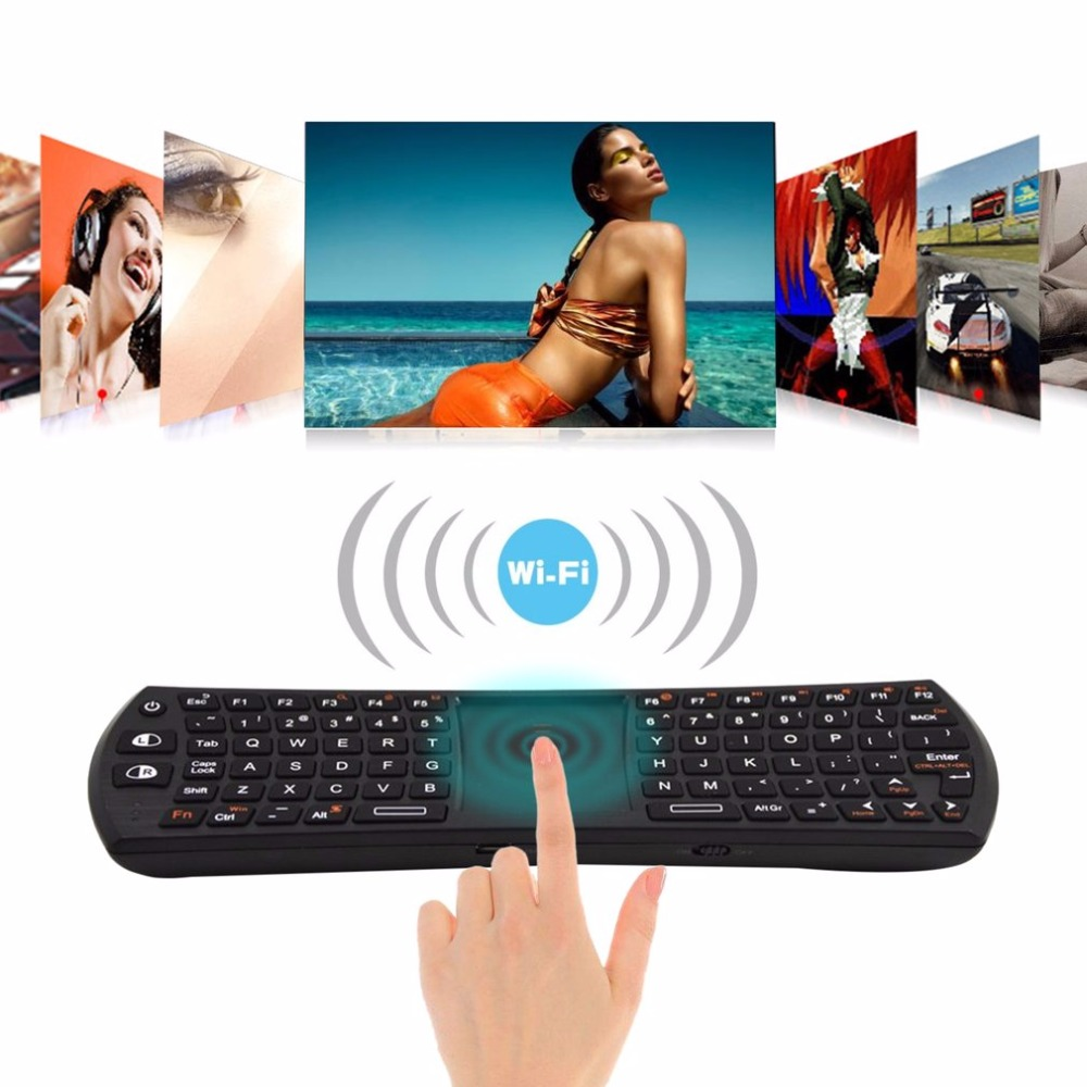 все цены на Rii i24T Mini 2.4G Wireless Mini Keyboard With Touch Pad English Remote Control For Android Smart TV Box Plug And Play