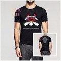 Clássico da moda de Heavy Metal METALLICA T-Shirt Dos Homens Hip Hop Camiseta de Algodão de Manga Curta O Pescoço Camisas Casuais Camisetas Masculina