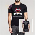 Moda Clásico METALLICA Heavy Metal Camiseta Para Hombre de Hip Hop de Algodón de Manga Corta Cuello O Camisetas Camisetas Masculina Camiseta Ocasional