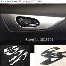 Автомобиль Стайлинг Защита stick отделкой двери автомобиля внутренней построен ручки чаши 4 шт. для Nissan X-trail, PDF T32 /Rogue 2017 2018 2019
