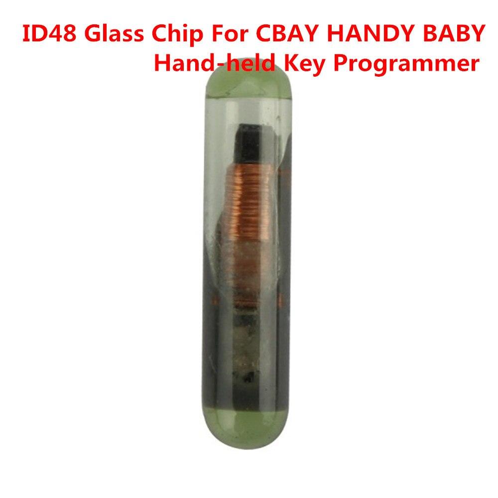 10 шт./лот ID48 Стекло чип для CBay Handy Детские ручной Ключи копия Auto Key Программист