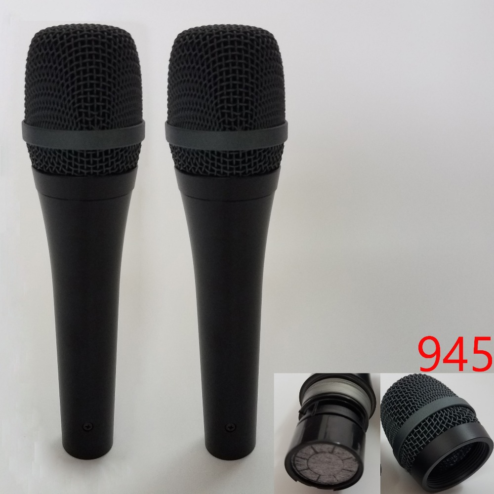 2pieces 945 professional mic karaoke system dynamic super cardioid microphone vocal wired. Black Bedroom Furniture Sets. Home Design Ideas