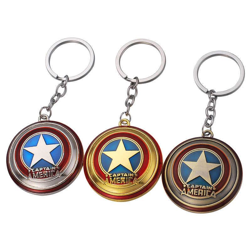 2019 Chất Lượng Cao Marvel The Avengers Thor của Hammer Mjolnir Keychain Captain America Lá Chắn Hulk Batman Mặt Nạ Keychain Móc Chìa Khóa Ringss