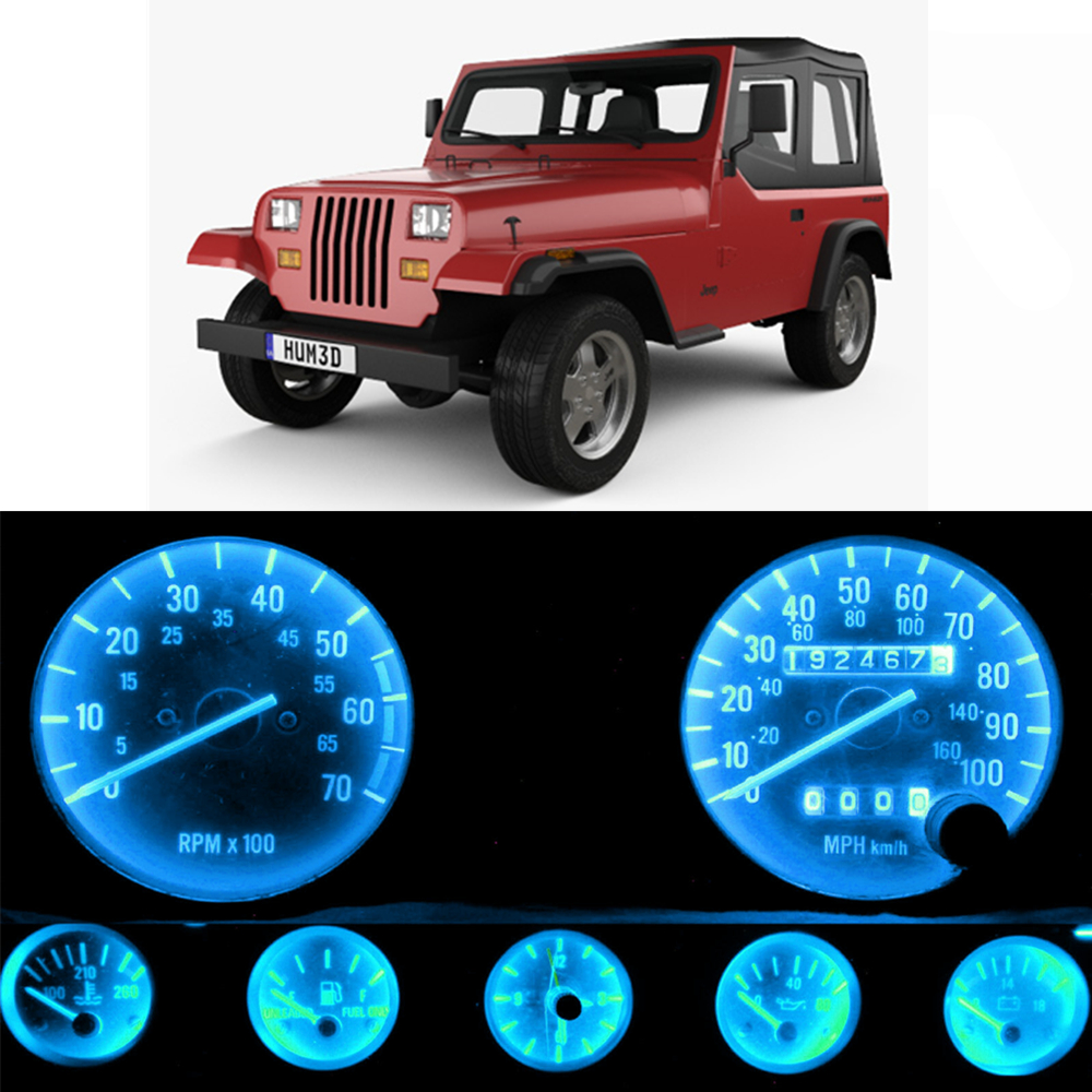 wljh painel de instrumentos de medicao 12v velocimetro tacometro conjunto de luz led completa para jeep