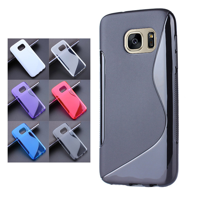 hot sale online 0b3f0 a48e7 US $1.79 10% OFF|2016 S Line Gel TPU Slim Soft Case Back Cover For Samsung  Galaxy S7 G9300 S7 Edge G9350 S7 Plus Rubber Silicone Skin Cases-in Fitted  ...