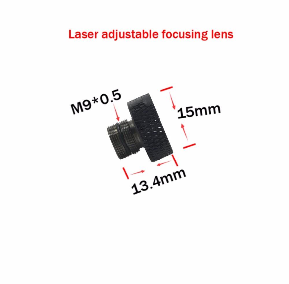 Adjustable focusing lens three Layer coated glass M9*0.5 for 405nm 445nm 450nm 1w 2w 2.5w 3w 5.5w laser diode module lens недорго, оригинальная цена