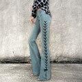 Skinny Jeans Woman 2017 New Vintage Denim Flare Wide Leg Long Pants Slim Women's Jeans Femme Pants Plus Size Trouser C468