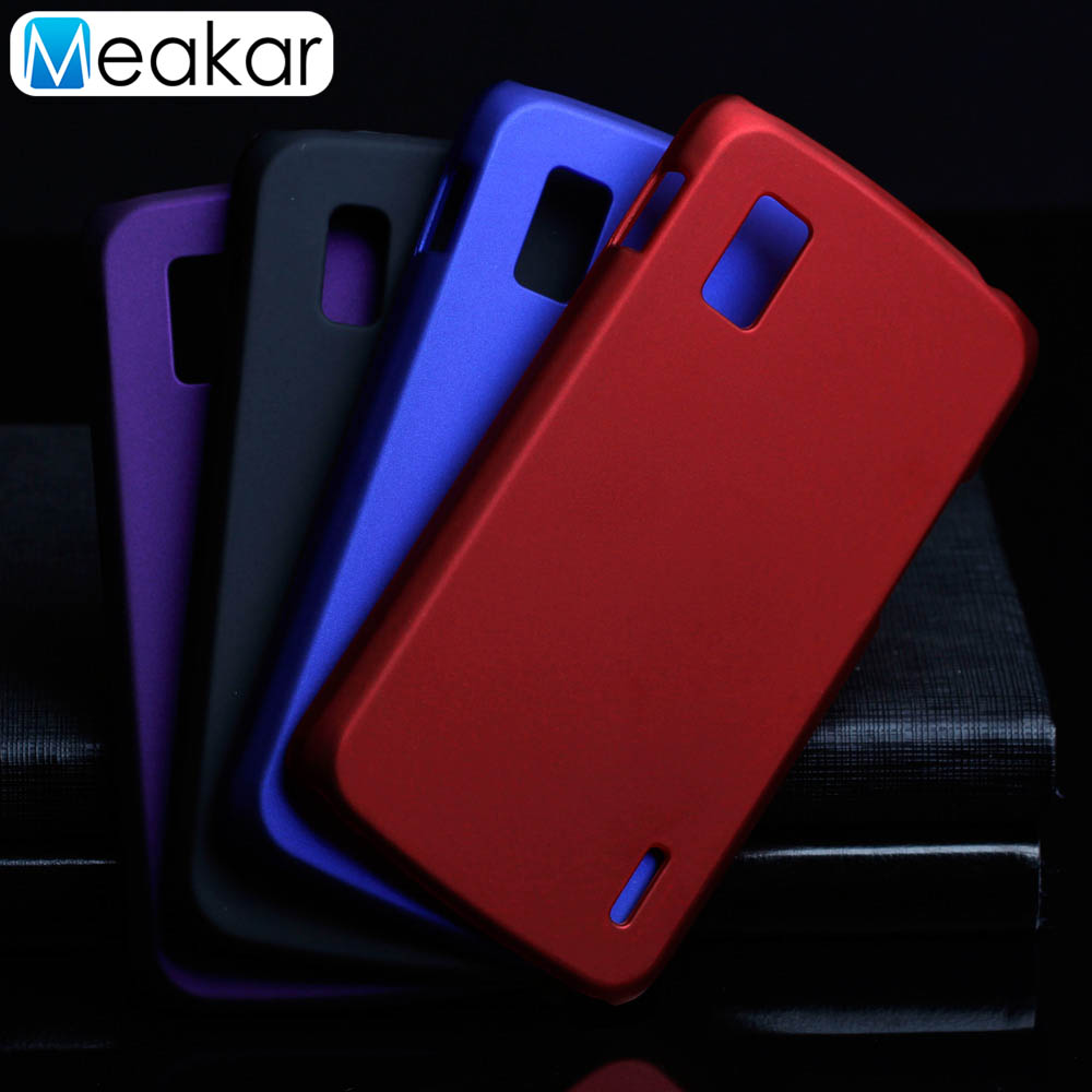 Matte Plastic Coque Cover 4.7For Nexus 4 Case For LG Google Nexus 4 E960 Phone Back Coque Cover Case image
